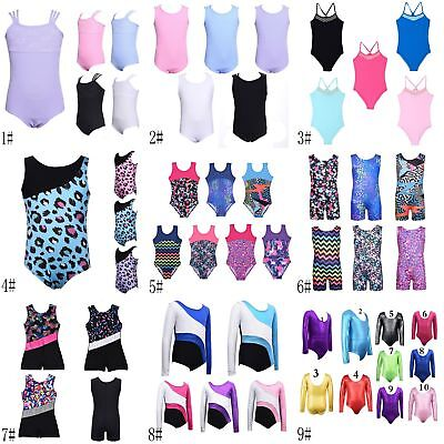 Little Girl Gym Leotards Ballet Dance Sports Costumes Kid 3-11 Y Girls Dancewear