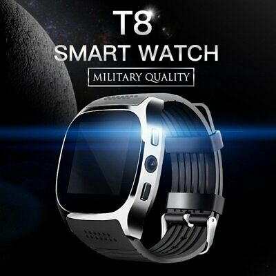 2018 Bluetooth T8 Smart Watch Pedometer GSM SIM for iPhone Samsung Phone Mate