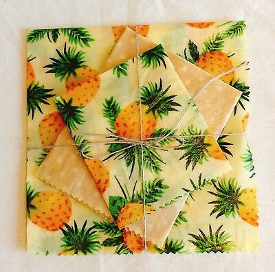 Beeswax Eco Food Wraps Set Of 3, No Needles Packing, Handmade in UK, Reusable