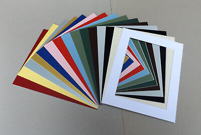 "Cardboard PICTURE MOUNTS for 10x8"" Picture Frame Lots of colours & cut out sizes"