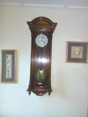 Antique Two Wieght Pendinnent  Wall Clock