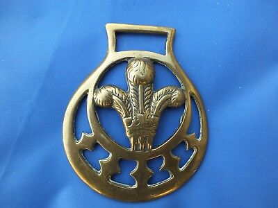 Antique Horse Brass - Prince of Wales Feathers horse brass (Ref. 1452)