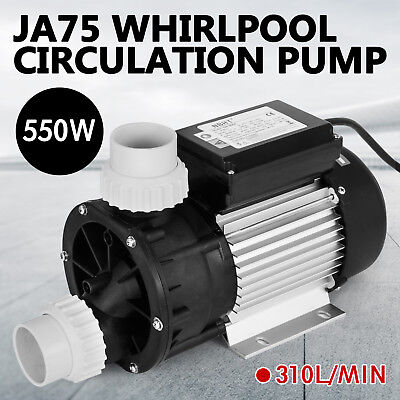 JA75 Hottub Whirlpool Circulation Pump Jet Pump SPA LX Low Noise 550W 0.7HP CA