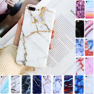 Marble Stone Pattern Phone Case Soft TPU Skin Cover For iPhone X 8 6 6s 7 Plus