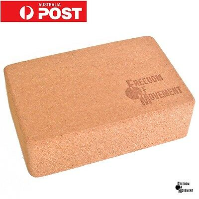 2x Cork yoga block/ brick. Firm, durable, natural, eco-friednly, tool, 8x15x23cm
