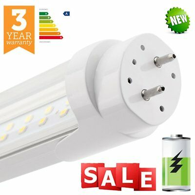 LED T8 Tube Light 2ft 4ft 5ft 6ft Two Row Retrofit Fluorescent Replacement Cover