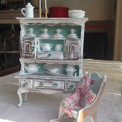 Dolls House Shabby Chic Dresser And Rocking Chair
