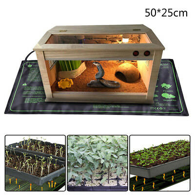 Thermostat Seedling Heat Mat Seed Reptile Plant Pad Power-Of Cloning Hydroponic
