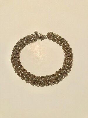 Vintage Dog Collar Style Chain Link Bold & Chunky Gold Tone Necklace 1960s 1970s