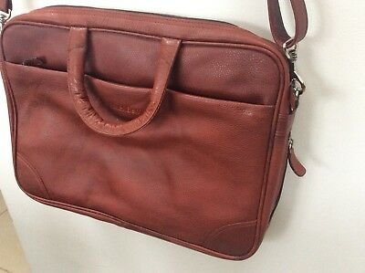 BLACKBERRY BROWN LEATHER Laptop Bag Briefcase New £18.00