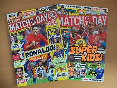 Match of The Day Football Magazine Issue 1 (4 March 2008) plus free sample copy