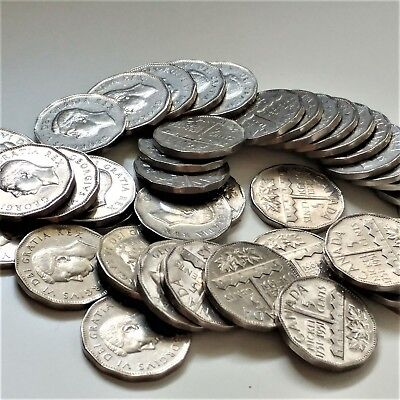 1 Roll Of 1951 Commemorative 5 Cents Nickel Coins VF to BU (40 coins)