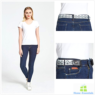 No Bulge Belt Buckleless Invisible Elastic Stretch Belts For Women Ladies Jeans