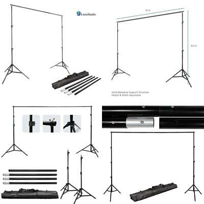 Step  Repeat 10Ft Telescopic Trade Show Backdrop Banner Stand Adjustable W/ Bag