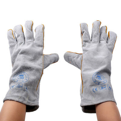 Heatproof Fireproof Leather Tig Welders Gauntlet Work Gloves Welding Workwear