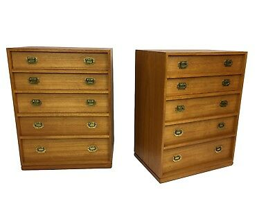 Circa 1960s Mid Century Danish Modern Teak Nightstands Tables Chests Dressers