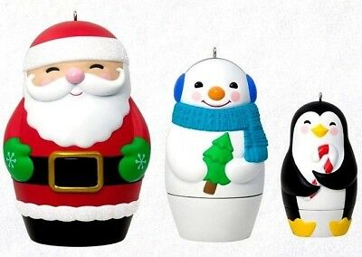 Hallmark 2018 Nesting Doll Surprise Box Club Exclusive Ornaments Set of 3