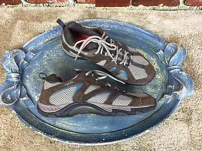 Ryka Brown Suede Leather Womens Walking Shoes Sneakers Soft Sole Size 8W