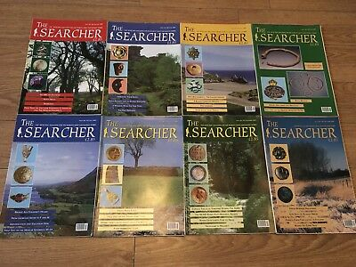 The Searcher Magazine Job Lot Metal Detecting Treasure Hunting 8 issues 2001!!