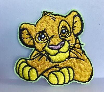 Disney The Lion King Simba Character Embroidered Appliqué Patch Sew Or Iron