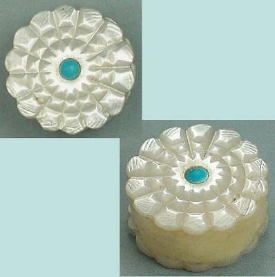 Antique Mother of Pearl & Turquoise Thread Waxer * English * Circa 1860