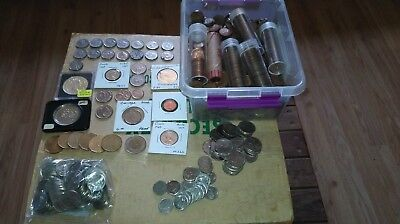 HUGE Canadian Coin Lot. 1920's to 2000.  Some SILVER. OVER $40.00 face