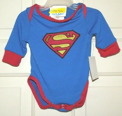Costume Size 6-9 Months Bodysuit One Piece NEW Baby Superman Body