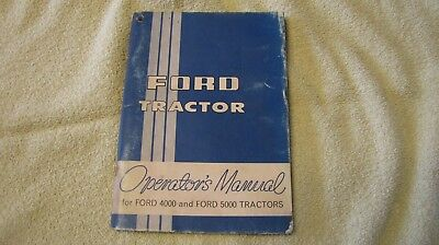 Ford 4000 and 5000 Series Tractors Owner Operator's User Guide Manual