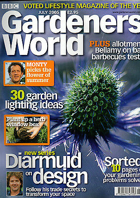 BBC Gardeners' World Magazine-JULY 2005 Back Issue-DIARMUID ON DESIGN