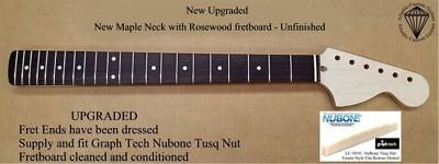 New UNFINISHED Maple Neck with Rosewood Fretboard.