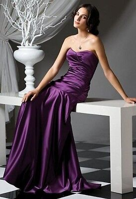 Dessy Collection Formal Mother of the Bride Bridesmaid Dress Size 10 Violet
