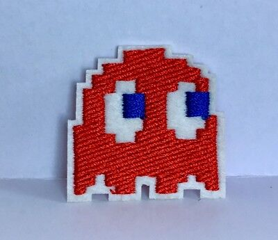 RETRO 1980S VIDEO GAME PACMAN GHOST EMBROIDERED APPLIQUÉ PATCH SEW OR IRON #22