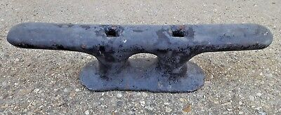 """Massive 24"""" - 52.5 lbs Cast Iron Boat Ship Yacht Cleat Dock Antique Vtg Wilcox?"""
