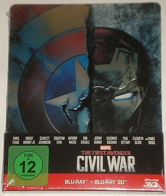 The First Avenger: Civil War 2D+3D Steelbook NEU OVP