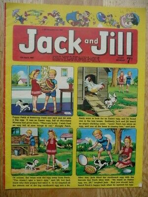 Collectible Vintage Jack and Jill Children's Comic - 12th April 1969