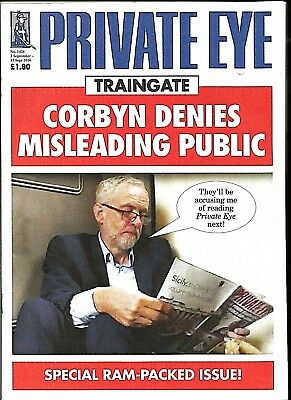 Private Eye Mag # 1426  2 September 2016  Jeremy Corbyn MP  Labour Virgin Trains