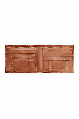 New Realtree Burnished Tan Faux Leather Edge Passcase Bifold Mens Wallet