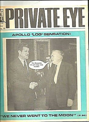 Private Eye Mag # 199  1 August 1969  Harold Wilson MP  Reginald Maudling inside