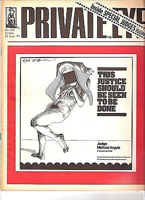 Private Eye Mag # 252  13 August 1971  Ralph Steadman  OZ Obscenity Trial Cover
