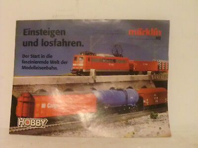 VINTAGE MÄRKLIN HO SCALE TOY TRAIN CATALOG 31 PAGES with DEALER´S STAMP on FRONT