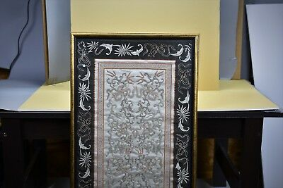 Chinese Silk Textile With Gold And Silver Thread