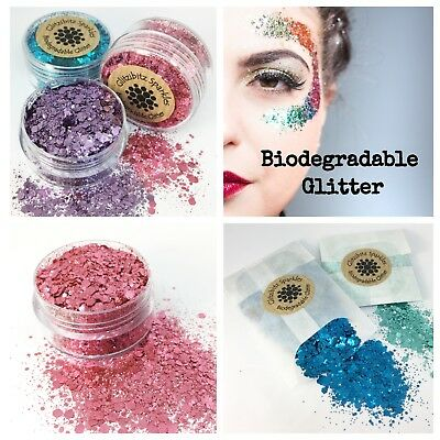 Biodegradable Cosmetic Bio Glitter chunky mix Festival Party makeup face colours