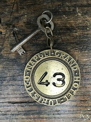 Vintage Hotel Key and Keyring : A great piece of collectible hotel memorabilia.