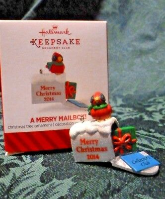 Hallmark 2014 A Merry Mailbox! Local Club Member Exclusive Miniature Ornament