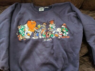 Looney Tunes Vintage Large Sweatshirt Warner Bros. Acme 1993 All Characters