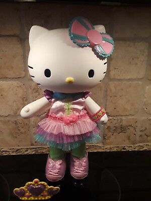"""Hello Kitty Vinyl Doll 12"""" with Outfit Shoes Bow and Crown Sanrio Toys 2013"""