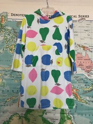 Mini Boden Toweling Swimsuit Swim Cover Up Sz 7-8 Pears Darling!!