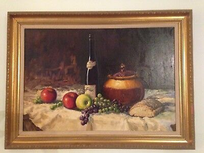 Antique oil Painting On Canvas by famous Irish artist