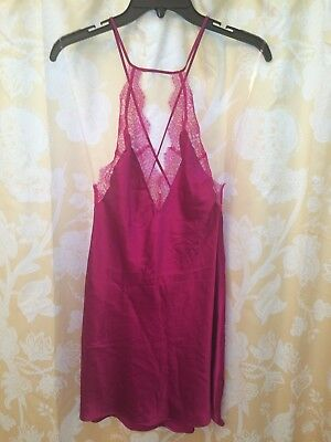 Victoria's Secret Womens Babydoll Lingerie Polyester Fushia Small
