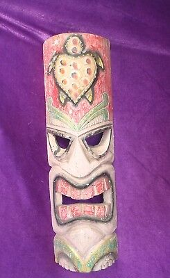 BALINESE HAND MADE & CARVED WOODEN TIKI MASK TOTEM 50cm H  FREE SHIPPING